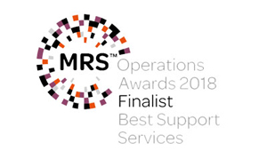 MRS Operations Awards Best Support Services Finalist 2018